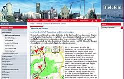Internetsite der Stadt Bielefeld zum Thema Grenze und Grenzsteine mit interessanten Karten