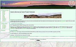 Private Site über das Wetter in Feldrom von Martin Dannhauser